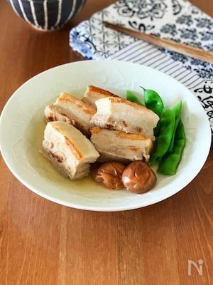 豚ばら肉の梅角煮