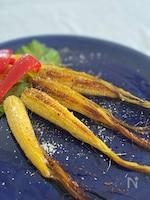 ひげ根が美味しい☆ヤングコーンのオイル焼き