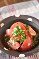 トマトとバジルのはちみつマリネ【作り置き】