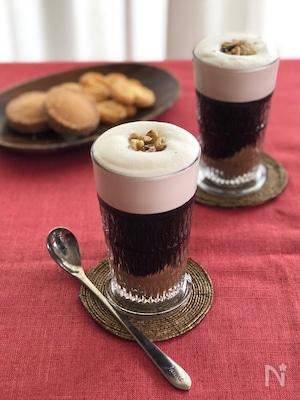 秋のティータイムに♪マロンクリームアイスコーヒー