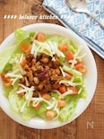 【美腸レシピ】子供も喜ぶ。ごぼうとお豆のタコライス