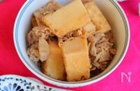 レンジで5分!味しみしみ厚揚げ肉豆腐【作り置き】