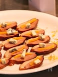 【赤ワインに合う!】鴨スモーク・マンゴーブルーチーズ
