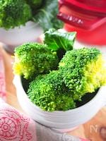 ブロッコリーの下ゆで*美味しく減塩に*食塩使わない方法