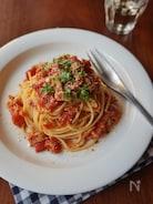 万能トマトソースとツナのパスタ
