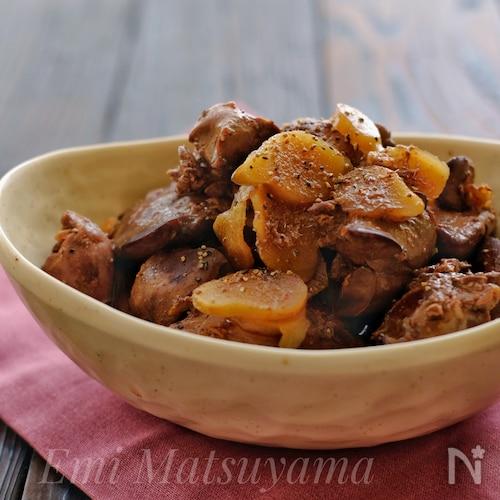 美味しく鉄分補給!*新生姜と鶏レバーの甘辛煮*