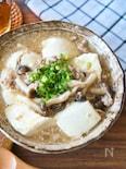 タレが絡んでおいしい♩すくい豆腐のそぼろあん