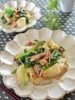 豚肉と長芋の塩こうじきのこガーリック炒め