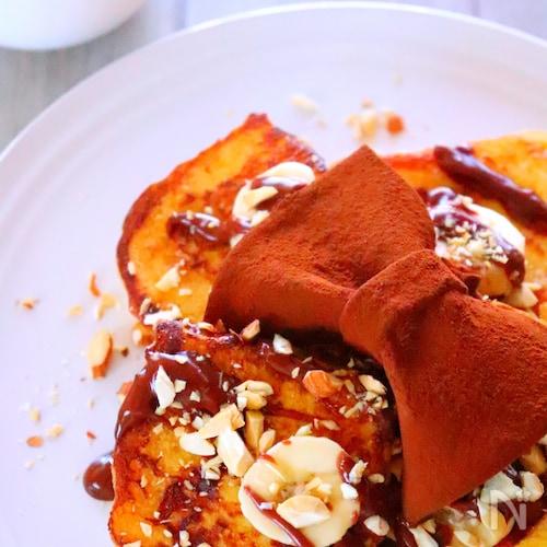 ふわふわ食感♡チョコバナナフレンチトーストの作り方レシピ