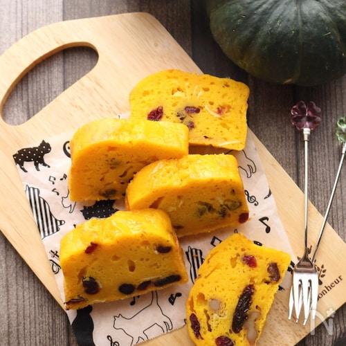 ドライフルーツ・くるみの入り!かぼちゃのパウンドケーキ