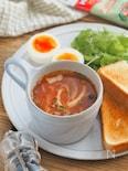 レンジで2分。マグカップトマトスープ【時短・朝食・簡単】