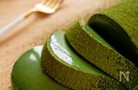 混ぜて冷やすだけ!濃厚抹茶ムースケーキ