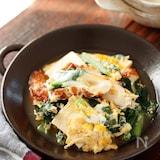 ちくわと小松菜と豆腐の卵とじ【#簡単#胃腸にやさしい】