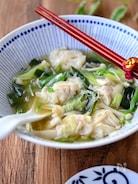 ワンタンと春雨の食べる生姜スープ鍋