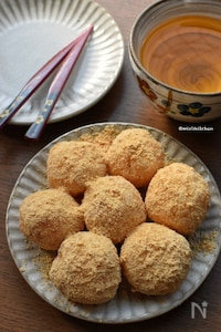 ご飯+片栗粉de作る♡子供達が大好きなきな粉団子♡