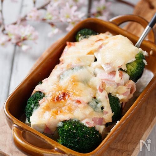 豆腐とブロッコリーのめんマヨチーズグラタン【#水切り不要】