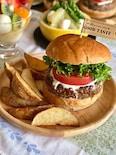 照り焼きハンバーガー&フライドポテト