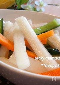『ご飯おかわり!我が家で人気の大根と野菜のお漬物』