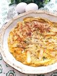 長芋のチーズ入り和風オムレツ