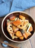 鮭と根菜の甘辛炒め