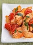 チキンとトマトのバジル炒め