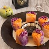 人参と紫キャベツのナムル生春巻き