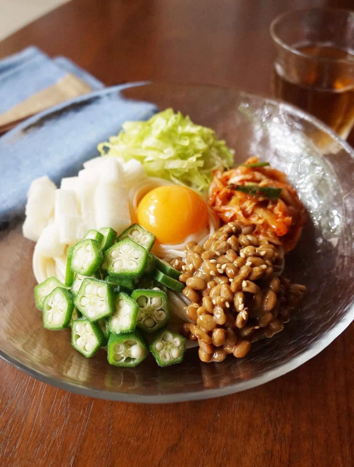冷凍うどん 納豆