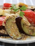 豚ひき肉と野菜の味噌炒め