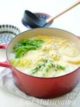 *マカロニ入り春野菜と鶏肉のミルクチーズスープ*
