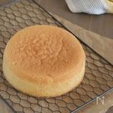 米粉だから振る必要なし!フワフワ♪スポンジケーキ
