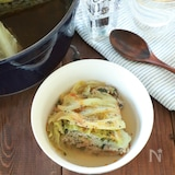 重ねて簡単 餃子風キャベツのミルフィーユ鍋