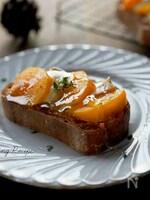 柿とカマンベールチーズのトースト