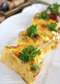 『竹の子のオーブンオムレツ』