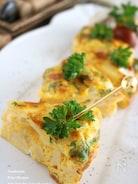 竹の子のオーブンオムレツ