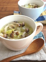 ほっこり♪具沢山◎白菜ときのこの生姜スープ