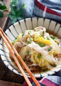 『豚バラ白菜のうまだし煮【#簡単 #包丁不要 #うどん出汁】』