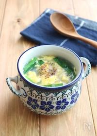 『ふんわり卵でほっこり♪にらたま春雨生姜スープ』