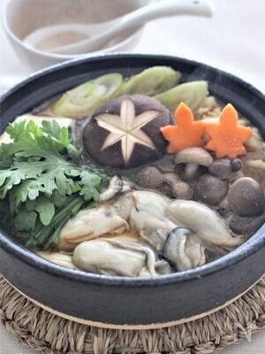 牡蠣の味噌鍋