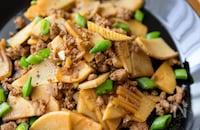 簡単甘辛系!のっけご飯が美味しい♪『筍とひき肉の中華炒め』
