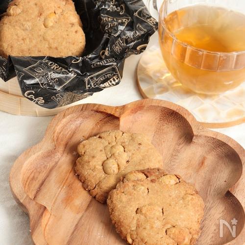 節分の豆をリメイク。米粉でザクザク炒り大豆きな粉クッキー