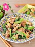 豚こまで手軽に。小松菜とエリンギの炒め物