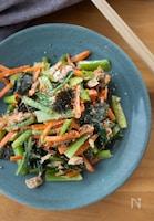小松菜とにんじんとツナの中華風和え【やみつき!簡単副菜】