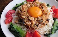 【豆板醤・甜麺醤なし!】ひきわり納豆入りジャージャー素麺