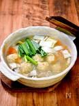 身体が温まる「鶏団子の春雨鍋」