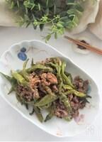 牛肉としし唐辛子の炒め煮