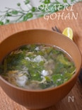 セロリ1本で2品 セロリの葉の牛だしスープ