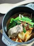 スペアリブとキムチのスープ煮(ストウブ料理)