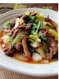 ご飯のでおかず☆白菜と牛肉の和風だし煮