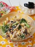 蒸し鶏の明太マヨでスプーンサラダ