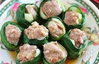 豚肉の青梗菜巻き